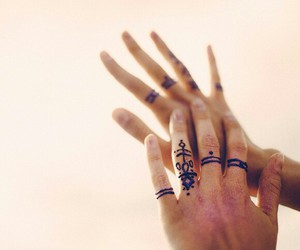 finger, henna, and small image