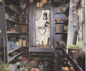 kitchen, rooms, and witchy image