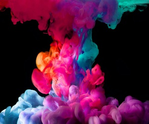 smoke, colorful, and colors image