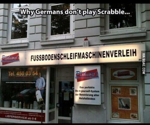 german, funny, and scrabble image