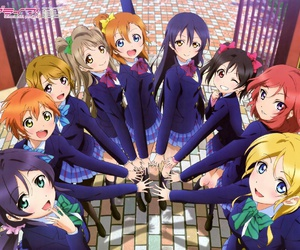 anime, love live, and school idol project image