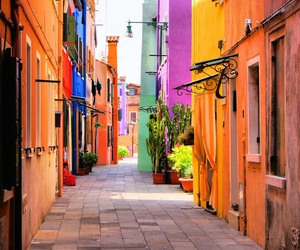 street, colorful, and italy image