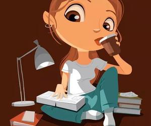 girl and study image