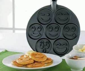 food, pancakes, and smiley image