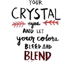 crystal, Lyrics, and indie image