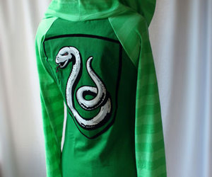 slytherin, green, and hoodie image