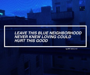blue, tumblr, and Lyrics image