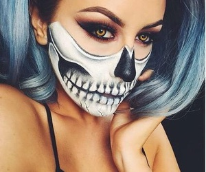 blue, eyes, and Halloween image