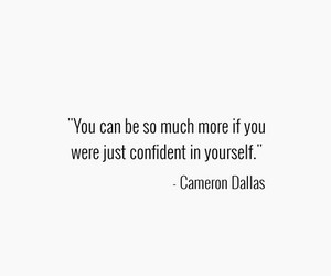 quote, cameron dallas, and confident image