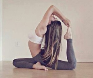 girl, fitness, and hair image