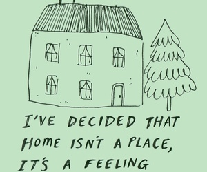 quotes, home, and green image