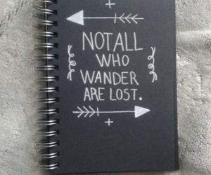blackandwhite, lost, and notebook image