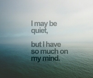 mind, quiet, and quotes image