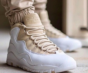 beige, jordan, and shoes image
