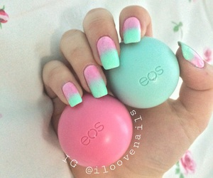 nails, eos, and pink image
