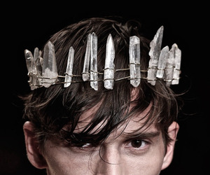 crown, crystal, and boy image