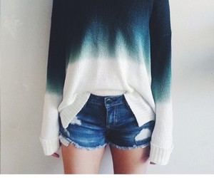 blue, indie, and sweater image