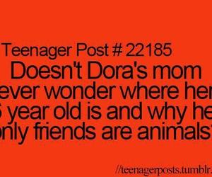 funny, Dora, and teenager post image