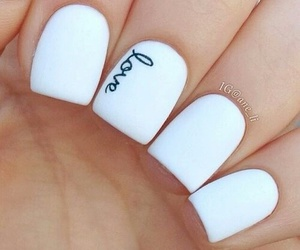 nails, love, and white image
