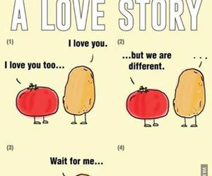 love, potato, and tomato image