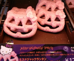 Halloween, hello kitty, and donuts image