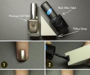nails, diy, and black image