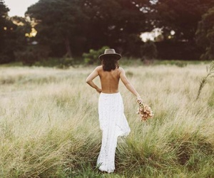 boho, bride, and fashion image