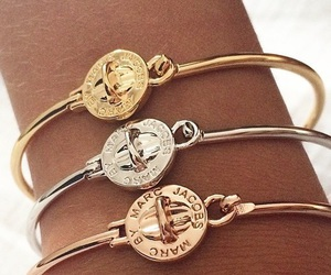 bracelet, gold, and marc jacobs image