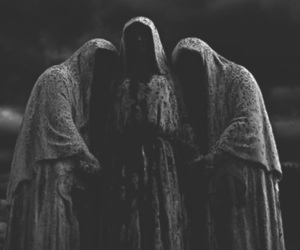 ghoul, hooded figure, and Halloween image