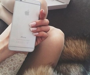 iphone, apple, and nails image