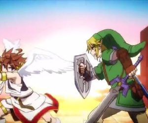 anime, link, and pit image