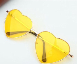 hearts, love, and sunglasses image