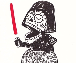 darth vader, mexico, and skeleto image
