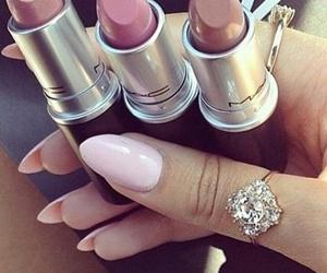 lipstick, girl, and mac image