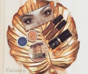 blush, dark, and eyeliner image