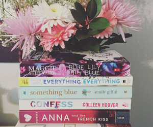 books, flowers, and tumblr image