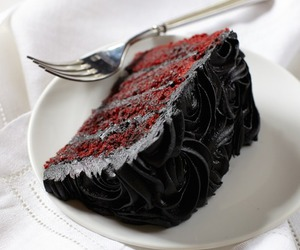 food and black image