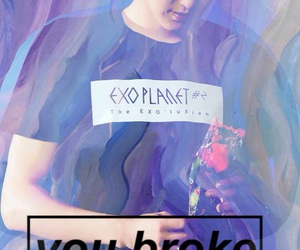 broken heart, park chanyeol, and edit image