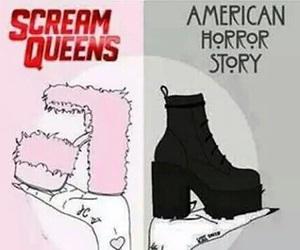 scream queens, black, and ahs image