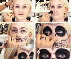 creepy, skeleton, and skull image