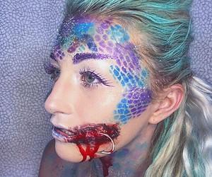 Halloween, halloween costume, and mermaid image