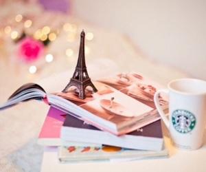 paris, book, and starbucks image