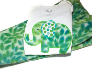 elephants, etsy, and baby girl clothes image