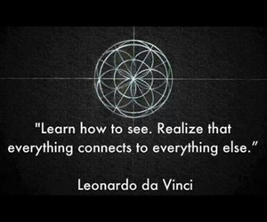Leonardo da Vinci, connection, and quotes image