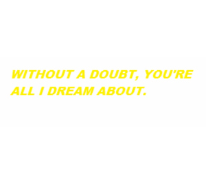 quote, yellow, and all caps image