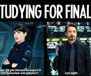 funny, final, and school image