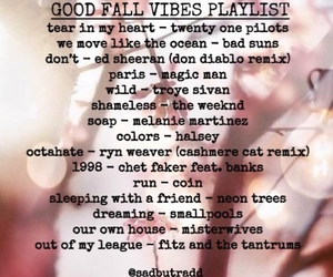 fall, music, and october image