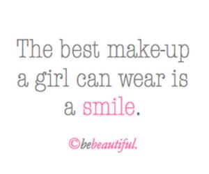 smile and make-up image