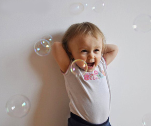 adorable, baby, and bubbles image