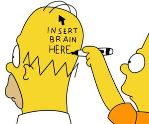 homer, simpsons, and brain image